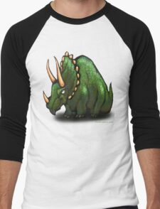 Triceratops Men's Baseball ¾ T-Shirt