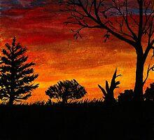 Acrylic Sunset by RoyceRocks