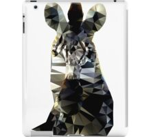 Zebra Head Low Poly Vector Style iPad Case/Skin