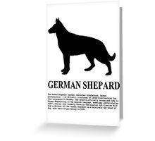 German Shepard Greeting Card