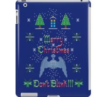 MERRY CHRISTMAS AND DON'T BLINK!  iPad Case/Skin