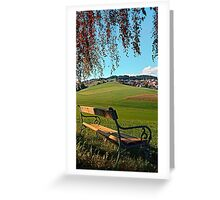 Bench under the tree | landscape photography Greeting Card