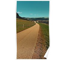 Country road into some autumn scenery | landscape photography Poster