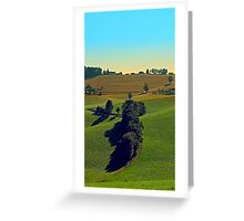 Autumn fields panorama | landscape photography Greeting Card