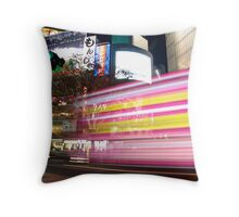 Shibuya Lights Throw Pillow