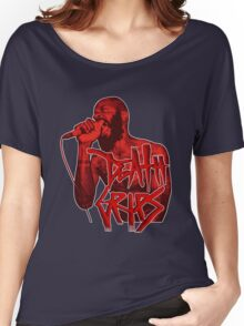 Death Grips | Colour Red Women's Relaxed Fit T-Shirt