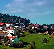 Rural hillside village panorama | landscape photography by Patrick Jobst