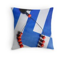 Worry Beads Throw Pillow