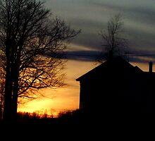 Farmhouse Sunset by Tammy F