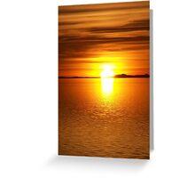 Ocean Of Gold II Greeting Card