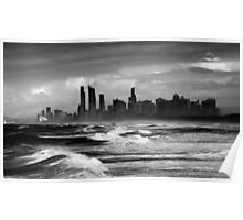 Rough Seas, Gold Coast, Australia Poster