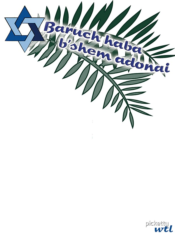 "Baruch haba b'shem adonai"" Stickers by picketty | Redbubble"