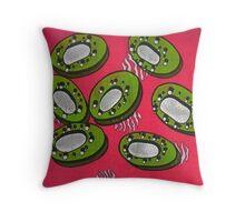 Abstract Kiwi Print Throw Pillow