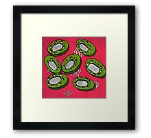 Abstract Kiwi Print Framed Print