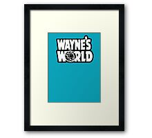Wayne's world film movie logo Framed Print