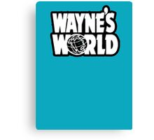 Wayne's world film movie logo Canvas Print