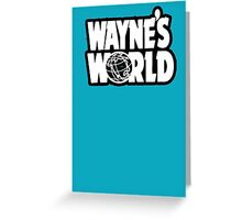 Wayne's world film movie logo Greeting Card