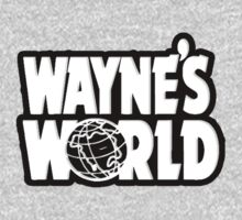 Wayne's world film movie logo by bakery