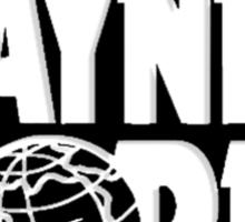 Wayne's world film movie logo Sticker