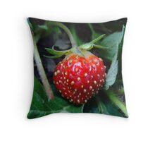 my little strawberry Throw Pillow