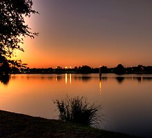 Lake Sunset by Mark Janes