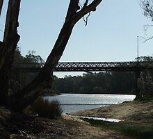 """bridge over the murray river at corowa"" by belinda thompson"