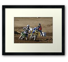 Loretta Lynn's SW Area Qualifier Riders 156 & 196 Power On the turn! competitive Edge MX - Hesperia, CA, (258 Views as of May 1, 2011) Framed Print