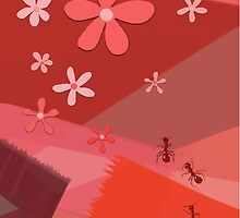 Flowers and ants by Helenave