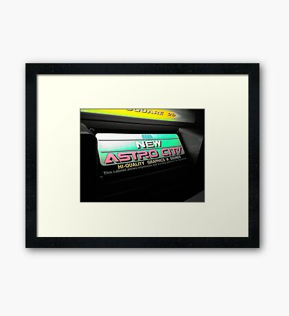 Neon Arcade Sign Framed Print