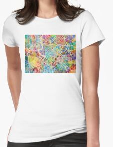 Rome Italy Street Map Womens Fitted T-Shirt