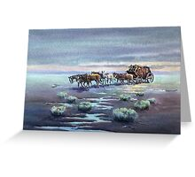 LATE AFTERNOON STAGECOACH by SHARON SHARPE Greeting Card