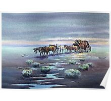 LATE AFTERNOON STAGECOACH by SHARON SHARPE Poster