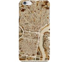 Philadelphia Pennsylvania Street Map iPhone Case/Skin