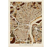Philadelphia Pennsylvania Street Map Photographic Print