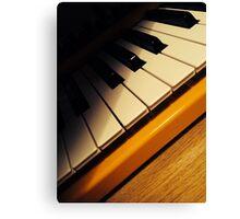 Yellow Keyboard Canvas Print