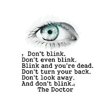 Don't blink by Helenave