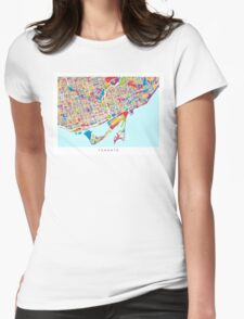 Toronto Street Map Womens Fitted T-Shirt