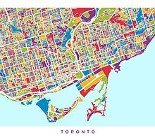 Toronto Street Map by Michael Tompsett