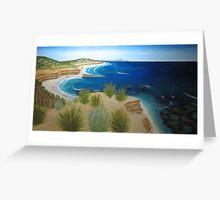 a Landscape of beach 16, rye beach, vic, australia Greeting Card