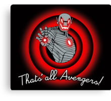 That´s all Avengers! Canvas Print
