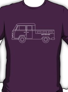 VW T2 Twin Cab Blueprint T-Shirt
