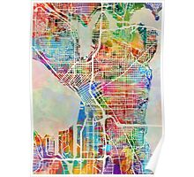 Seattle Washington Street Map Poster
