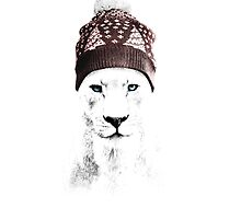 Xmas Lioness by Julien Missaire