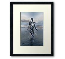 Transcension By Lightning Framed Print