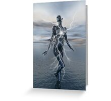 Transcension By Lightning Greeting Card