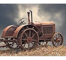 Rusty Tractors Never Die Photographic Print