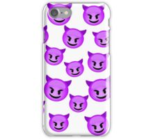 purple emoji iPhone Case/Skin