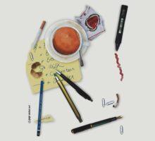 Desktop: a nice mess by Ronald Wigman