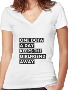 One Dota a Day... Women's Fitted V-Neck T-Shirt