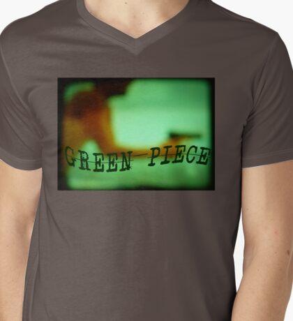 Green Piece Mens V-Neck T-Shirt